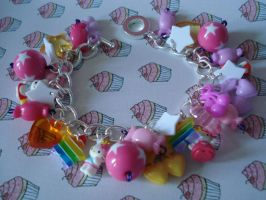 Hello Kitty Charm Bracelet by geurge