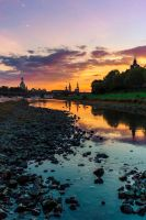 Sunset over Dresden by hessbeck-fotografix