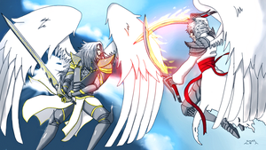 Clash of the angels by Taranis555