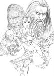 God of War - lineart by RaPour