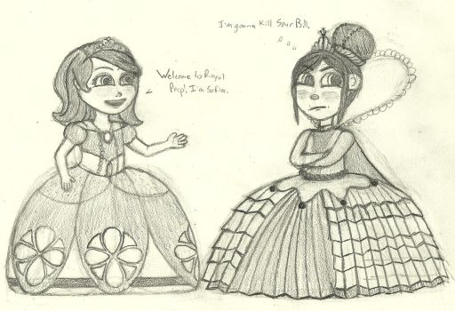 Sofia meets Vanellope by DisneyThorn92