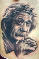 Einstein by maximolutztattoo