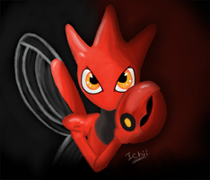 Scizor in the dark. by VanillaChii