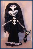 Skeleton Girl Rag Doll by jazzy1453