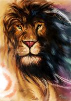 lion-my first digital painting by vandlister