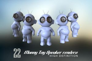 22 Munny toy Speaker Renders V2 by LuisFaus