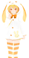 [MMD] Easter Collab 1/2 - Bunny PJ Neru [+DL info] by MajesticFork