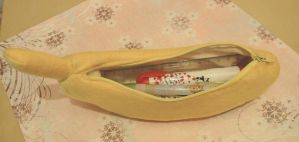 banana pencil case by untitled512