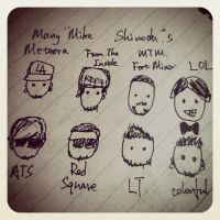 Many Mike Shinoda s by NoisyLynn