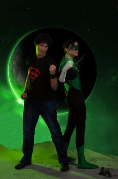 Green Lantern and Superboy by 1Kasumi
