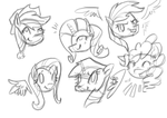 Mane 6: WIP by Unique-Brushstrokes