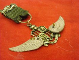 steampunk wings pilot badge by TimelessCharm