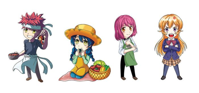 Shokugeki no Soma Stickers by OniMaru-04