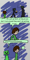 mc: endermen and creepers by Mythical-Human