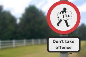 Print: Don't Take Offence by GAME-OVER-CUSTOM