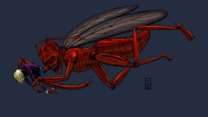 05 31 2012 Roach Monster Colored by LineDetail