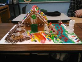 ginger house on candy lane by banni-rox