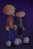 Standing in the rain... by OrionStorm