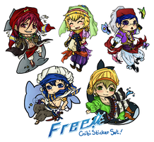 Free! Iwatobi Swim Club Chibis by Karaiel