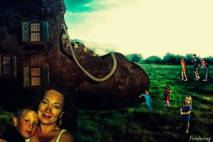 The Lady who lived in a Shoe by Ferelwing