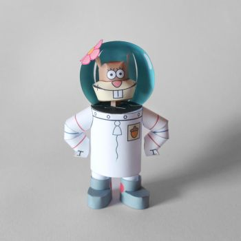 Sandy Cheeks Papercraft by kamibox