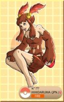 Gijinka Pokemon 555 Darmanitan by saurodinus
