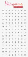 Sharpicons 120 Line Icons by Designslots
