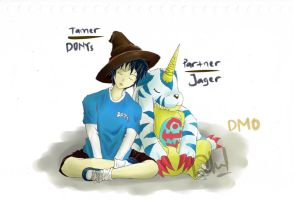 Me and My Partner Gabumon in DMO by DonySatriyoNugroho