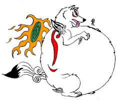 amaterasu posed by HectortheWolf