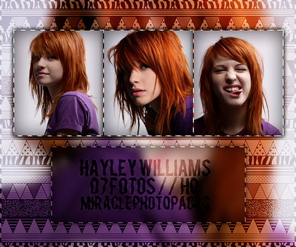 Photopack #8 - Hayley Williams. by miraclephotopacks
