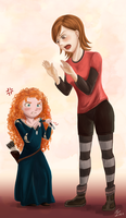 REQUEST: Merida and Penny by Justsui