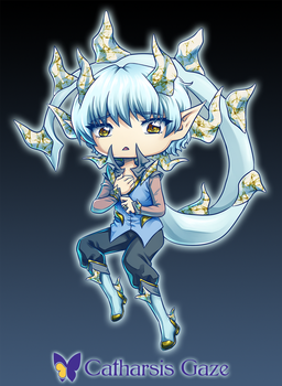 Chibi Demon OC by CatharsisGaze