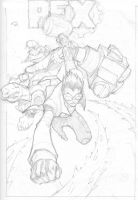 Generator Rex Cover Sketches by mikebowden