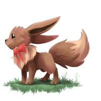 Eevee painting by yassui