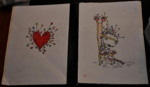 Pin Cushion Queen and Heart by Katie-Laine