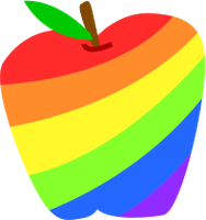 Rainbow Dash Apple by ahumeniy