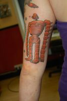 Ghibli robot tattoo by yayzus