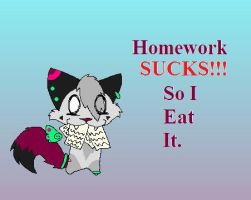 Homework Sucks by TehKittehNOMNOM