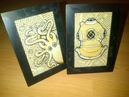 The Kraken and The Diver by OpheliaAntoinette