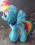 RainbowDash plushie for bronycon by Sen5