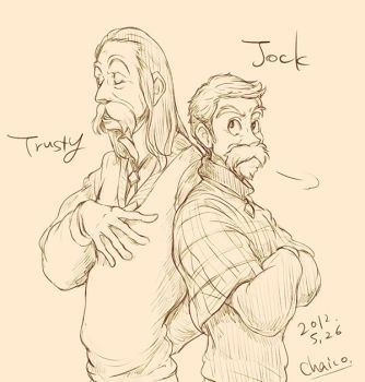 Jock and Trusty by chacckco