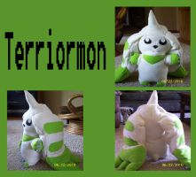 Terriormon Plushie by Destiny-The-Hedgimon