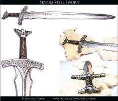 Skyrim Steel Sword by Goomba-Squad