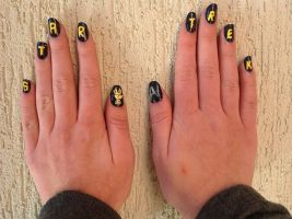 Star Trek Nail Art by whosherlokid