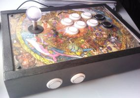 Okami Custom Arcade Stick by Ficus86