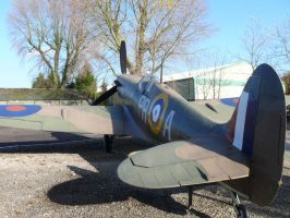 Spitfire at Yorkshire air Museum by Breezypants