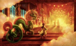 The Dragon Palace by ovibos