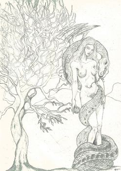 Lilith and Eve by goddessofissues