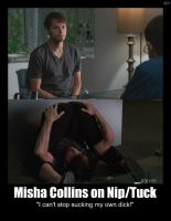 Misha Collins on NipTuck by ZombiePlatypusRush