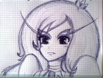 Ice Queen sketch by me~Adventure Time! by LadyEdile